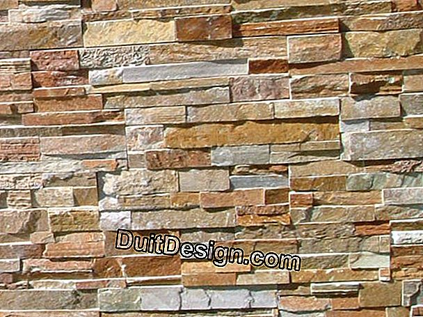 Wall claddings imitation stone