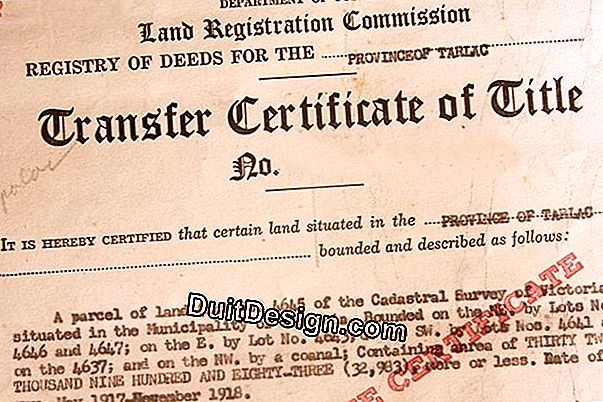 The deed of sale of a land or a house