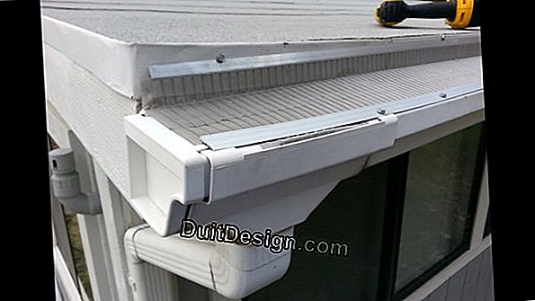 Install PVC gutters