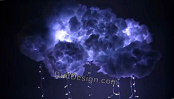 How to make a cloud lamp with LEDs?