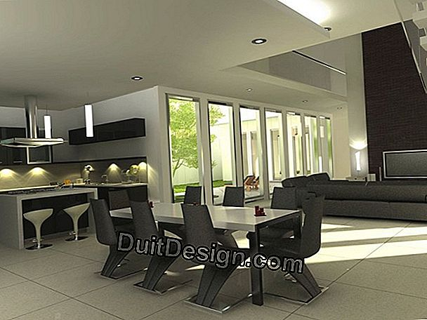 A contemporary dining room