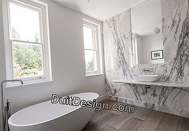 Marble in the bathroom