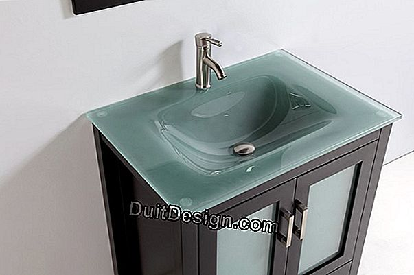 The tempered glass sink