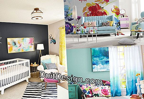 The watercolor trend in the decor