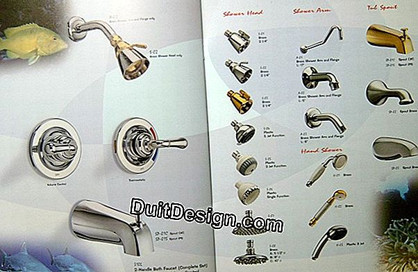 Faucets: different finishes