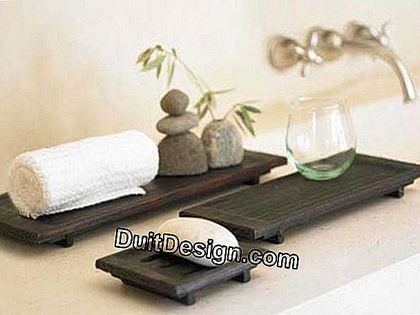 A zen decor in the bathroom