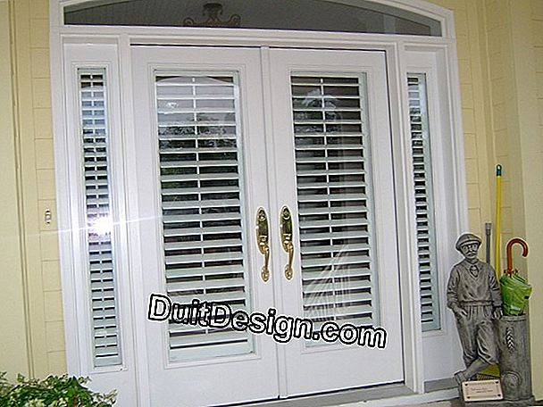 Shutters for French windows