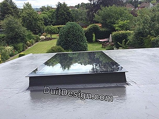 The dome window for flat roofs