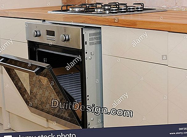 Install a built-in electric oven in a fitted kitchen