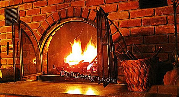 Clean your fireplace at the end of winter