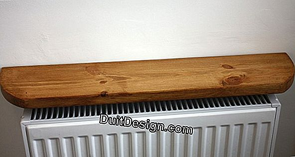 How to install a radiator shelf