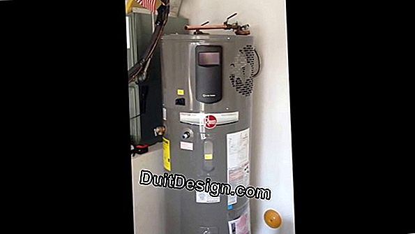 Installation of a water / water heat pump