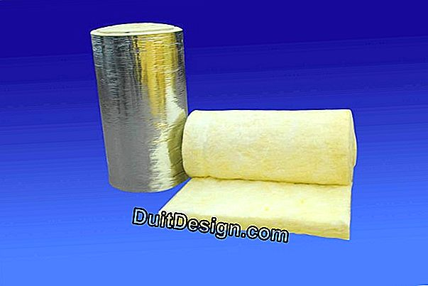 Insulation with glass wool