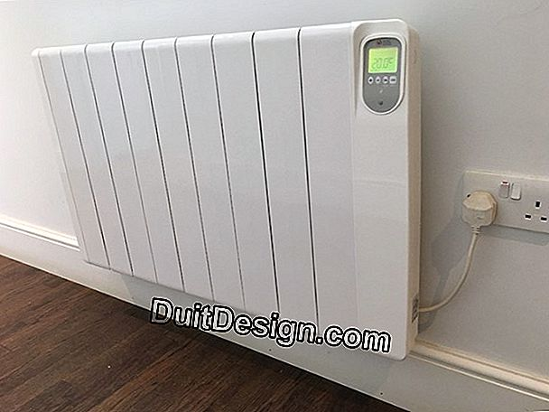 The programmable thermostat of a radiator