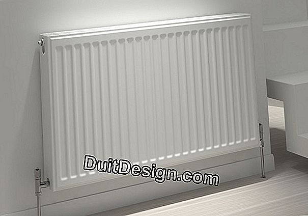 The radiator with steel panels