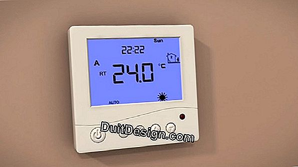 The thermostat of a floor heating