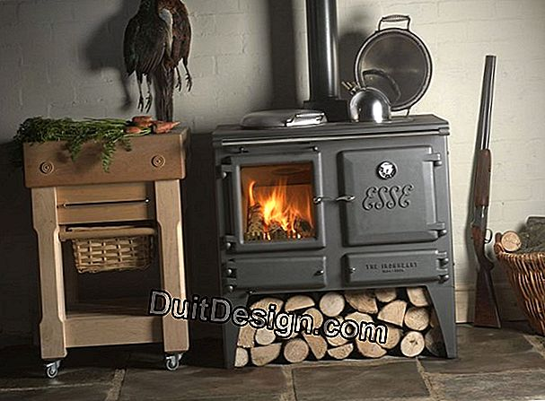 The wood stove with oven