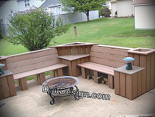 Renovate garden furniture