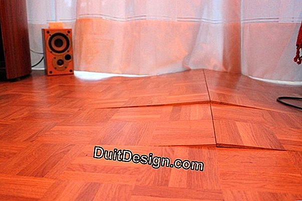 How to lay a soft floor covering on deformed parquet?