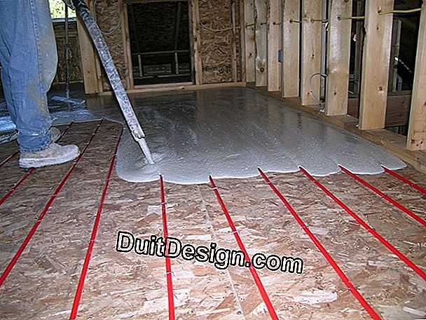 How to make up for a difference in level with underfloor heating?