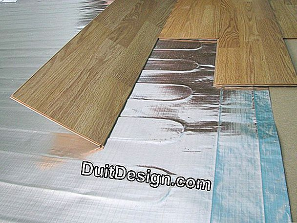 What type of flooring on a heated floor?