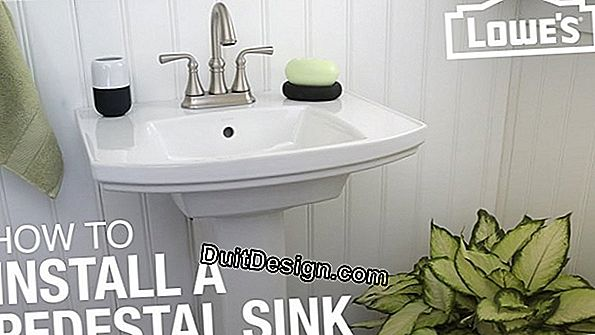 Bathroom: install a pedestal sink