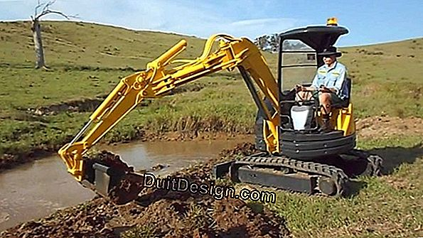 Dig with a mini excavator