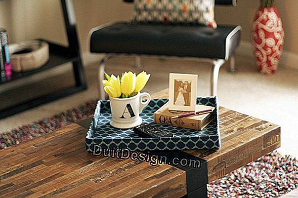 DIY: decorate a wooden tray with fabric