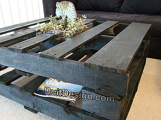 DIY: making a coffee table with pallets