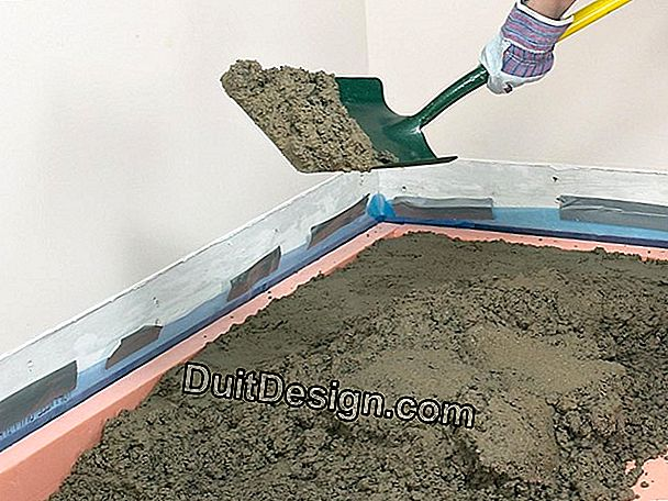 How to lay a laminate on a dry screed