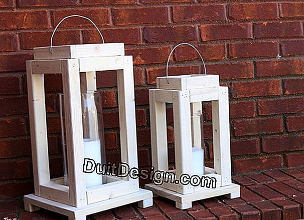 How to make an outdoor lantern?