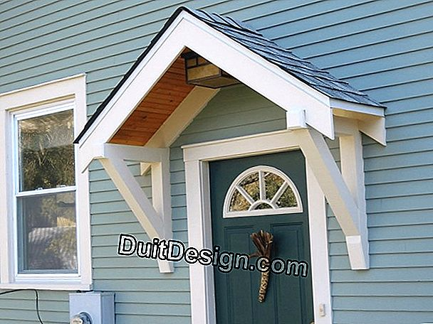 Install a design canopy for the front door