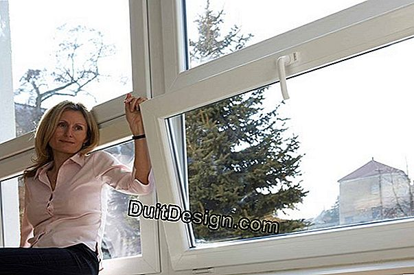 Install a tilt-and-turn PVC window