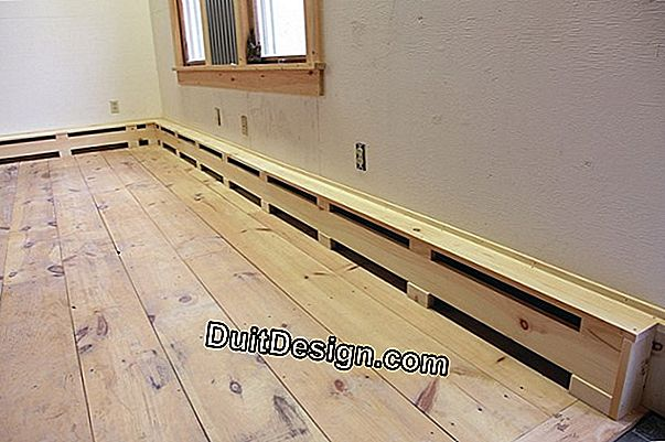 Laying electric baseboard heaters and lights