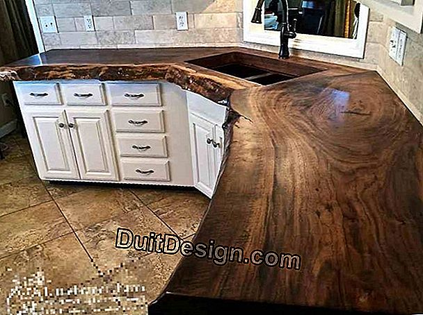 Make a wooden kitchen counter