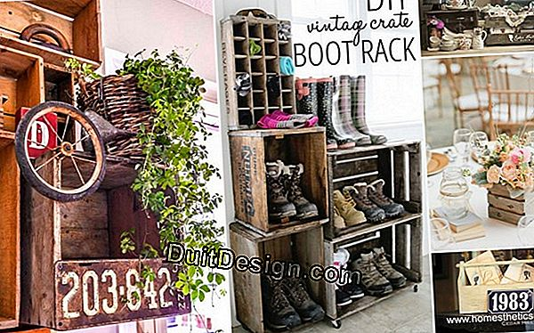 Make garden storage with decorated crates