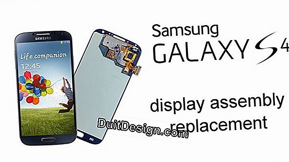 Replace the screen of a Samsung S4 smartphone
