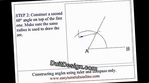 Use a compass to draw a right angle