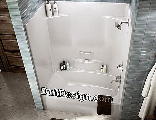 The shower tub