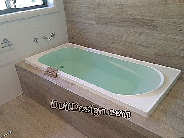 The built-in bathtub