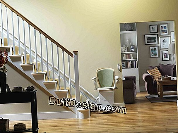 The different locations of a stairlift