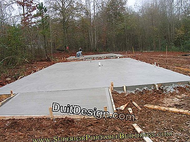Level a concrete slab