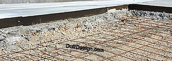 Make an expansion joint for a concrete driveway