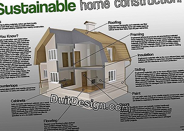 What are the new materials used in the construction of a house?
