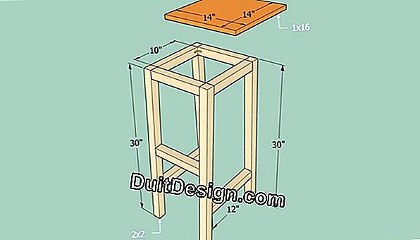 How to make a square wooden stool?