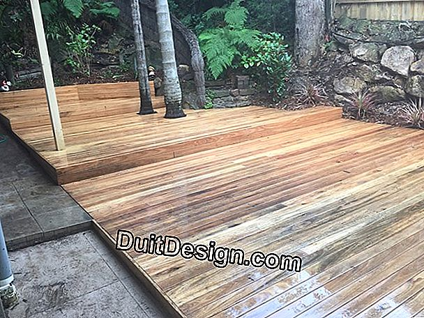 Wooden deck, define his project
