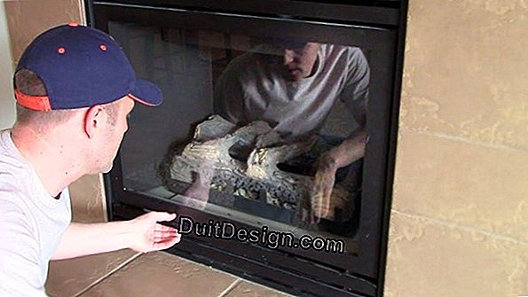Clean an insert or chimney glass