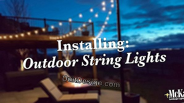 Install outdoor lights