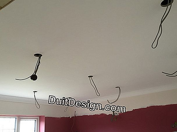 Install spotlights on cables