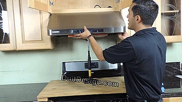 Install a built-in range hood